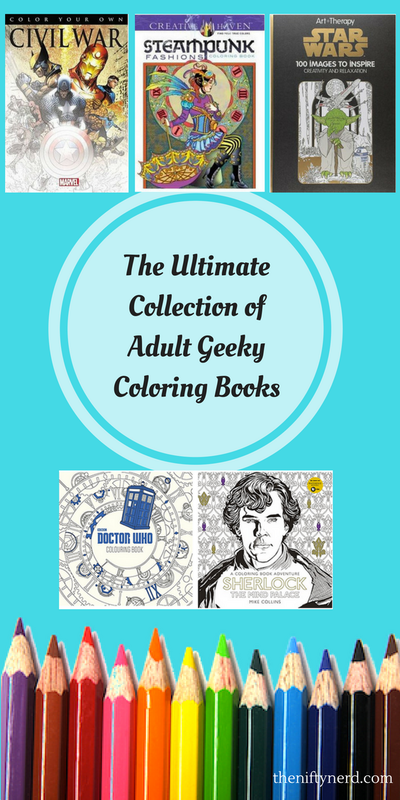 ultimate collection of adult geeky coloring books