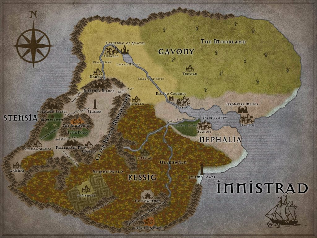Map of Innistrad