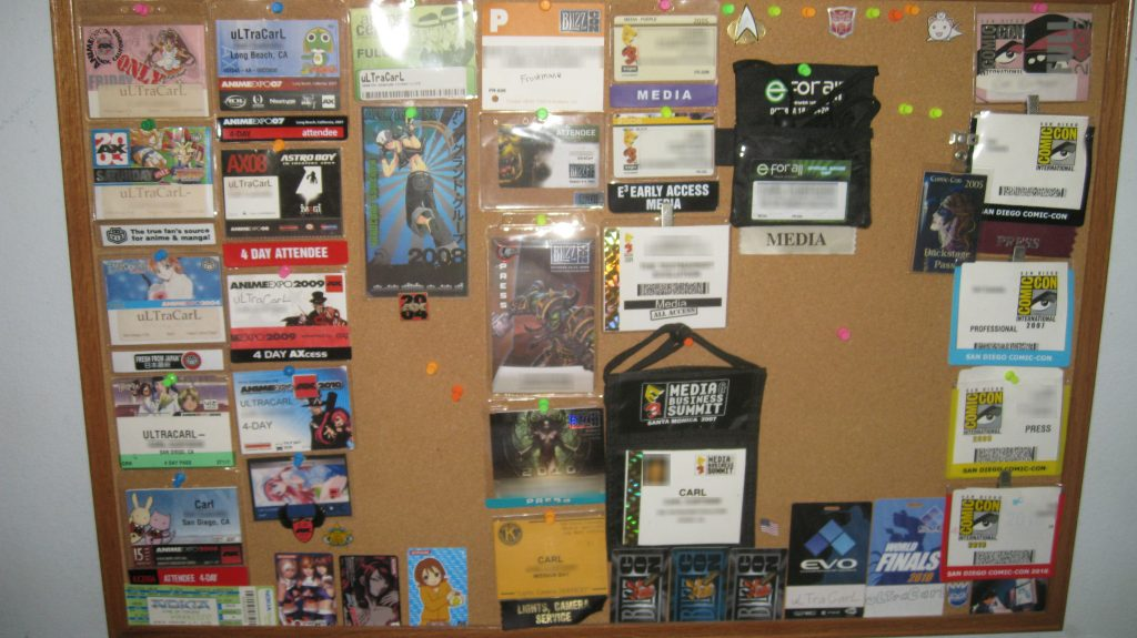 Cork Board with con badges