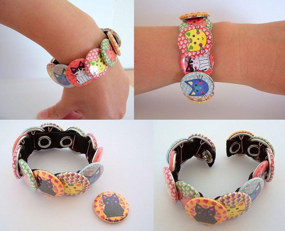 pinback button bracelet
