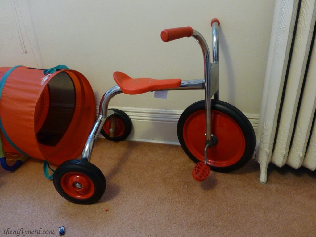 orange tricycle