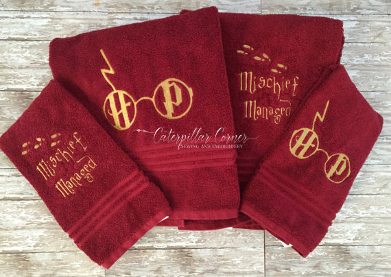 Harry Potter hand towel set
