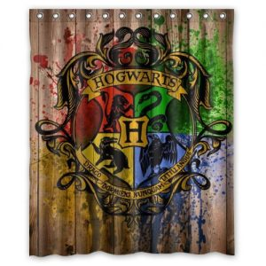 Hogwarts crest shower curtain