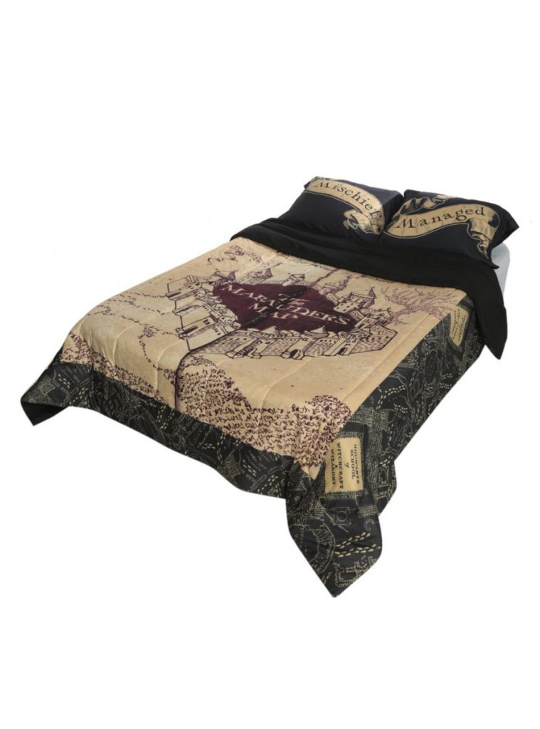 Harry Potter Marauders Map bed set