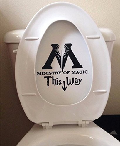 Surprising Ministry Of Magic Bathroom Toilet Decal The Nifty Nerd Evergreenethics Interior Chair Design Evergreenethicsorg