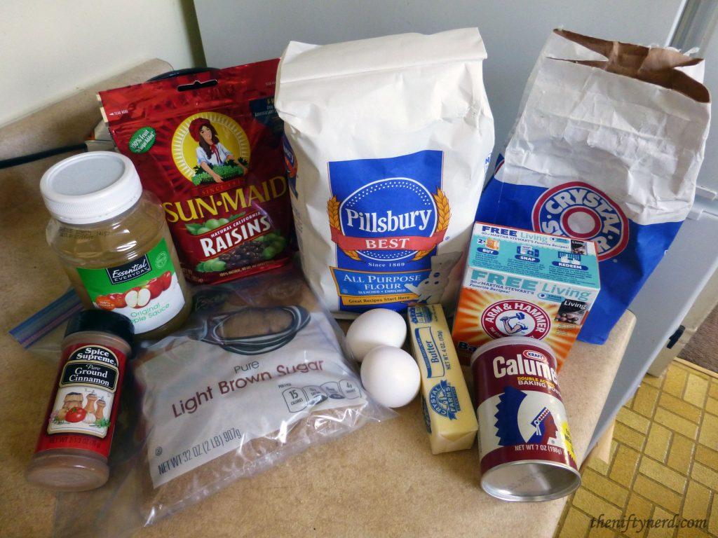 Raisin Nut Bread Ingredients