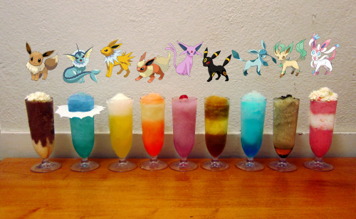 Eevee evolution cocktail recipes