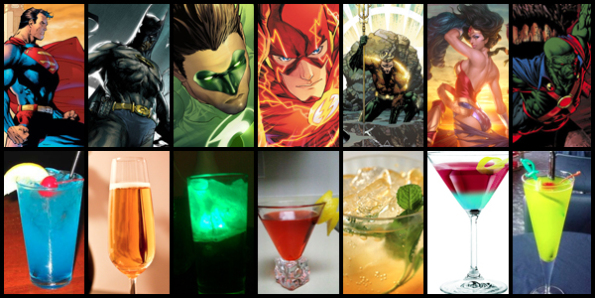 justice league cocktails
