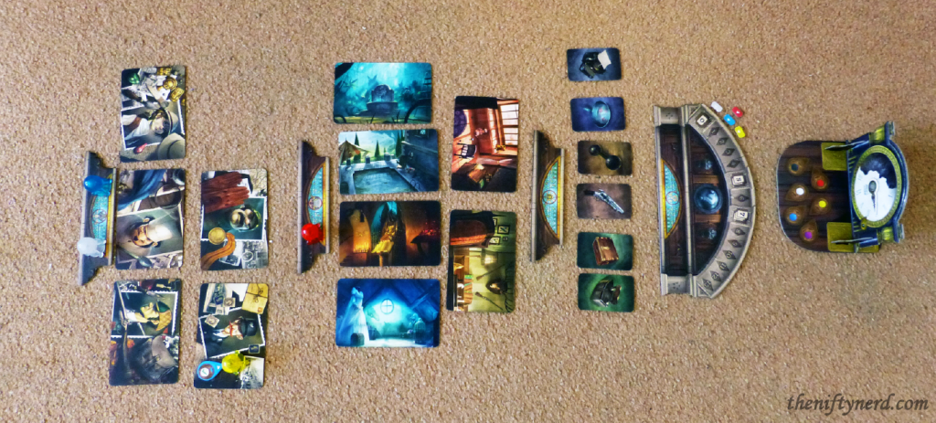 Mysterium board game setup