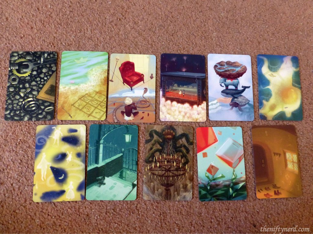 Ghost vision cards from Mysterium