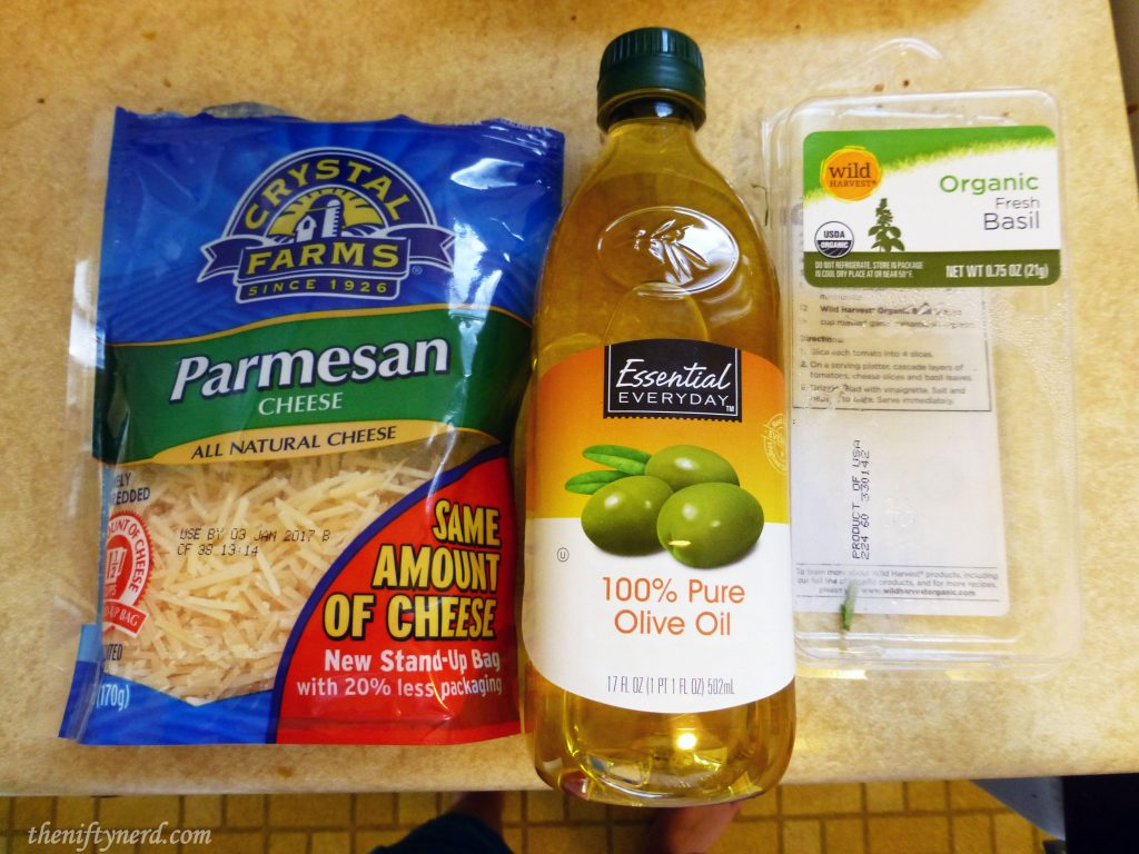 Koopasta pesto ingredients