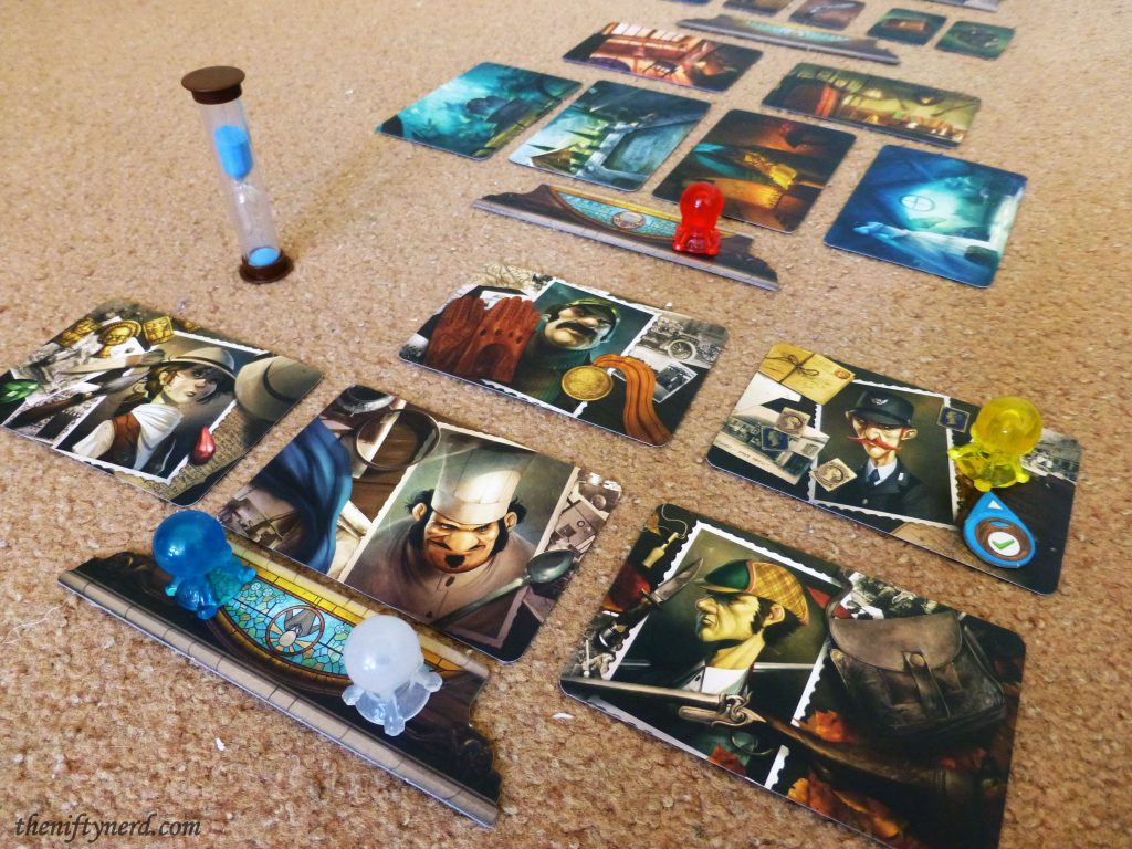 Mysterium board game pieces