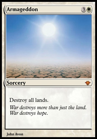 armageddon magic the gathering card
