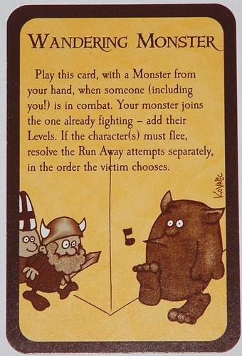 Wandering Monster munchkin card