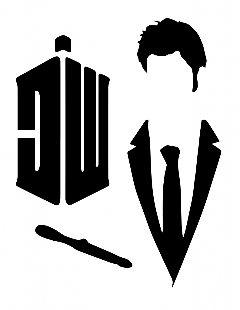 Doctor Who pumpkin carving template