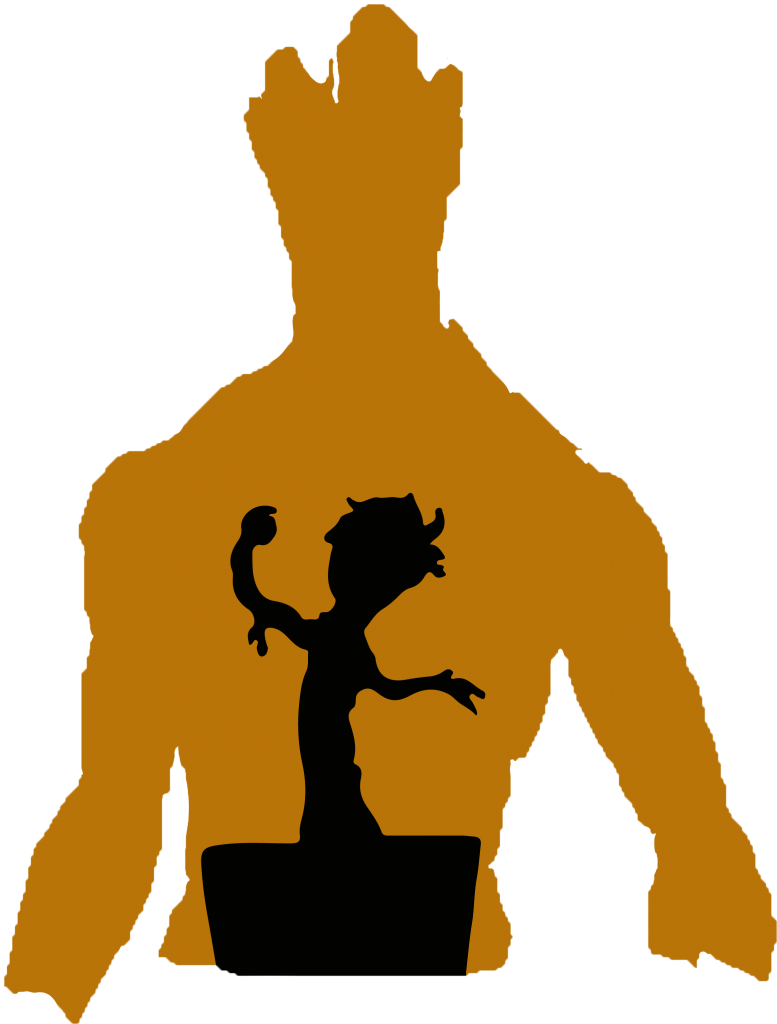 Guardians of the Galaxy Groot pumpkin carving template