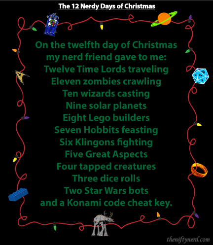 12 geeky days of Christmas