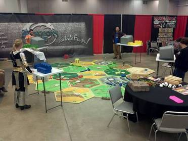 giant Settlers of Catan board game