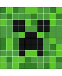 8-bit minecraft creeper