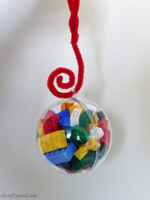 Lego brick tree ornament