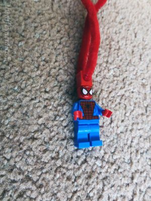 Lego spiderman tree ornament