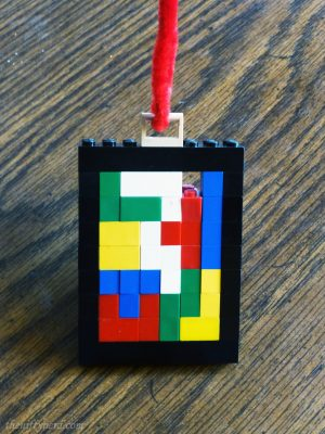 Lego Tetris Christmas tree ornament