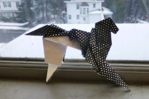 Bladerunner origami unicorn