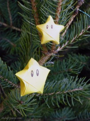 origami Nintendo Superstar ornaments