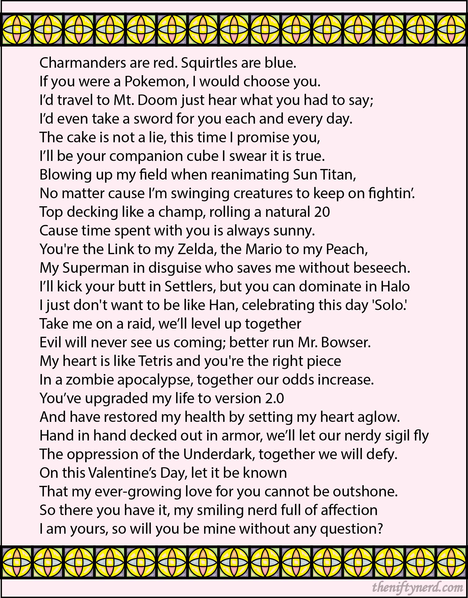 nerdy valentine's day poem