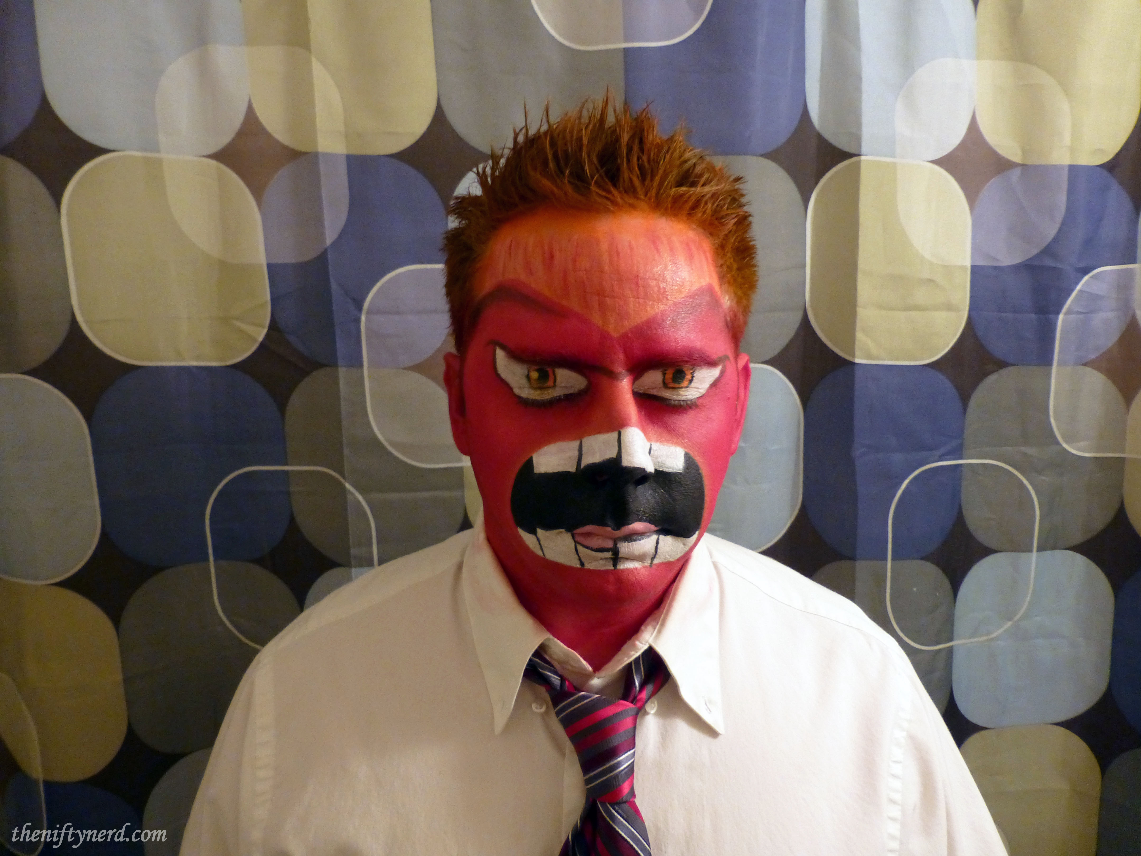Inside Out Anger Facepaint