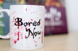 Bored Now Buffy coffee mug