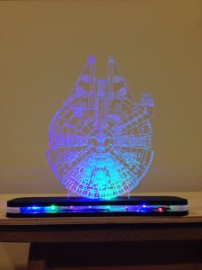Millenium Falcon LED light