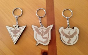 Pokemon Go wooden keychains