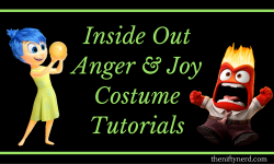 Inside Out Anger & Joy Costume Tutorials