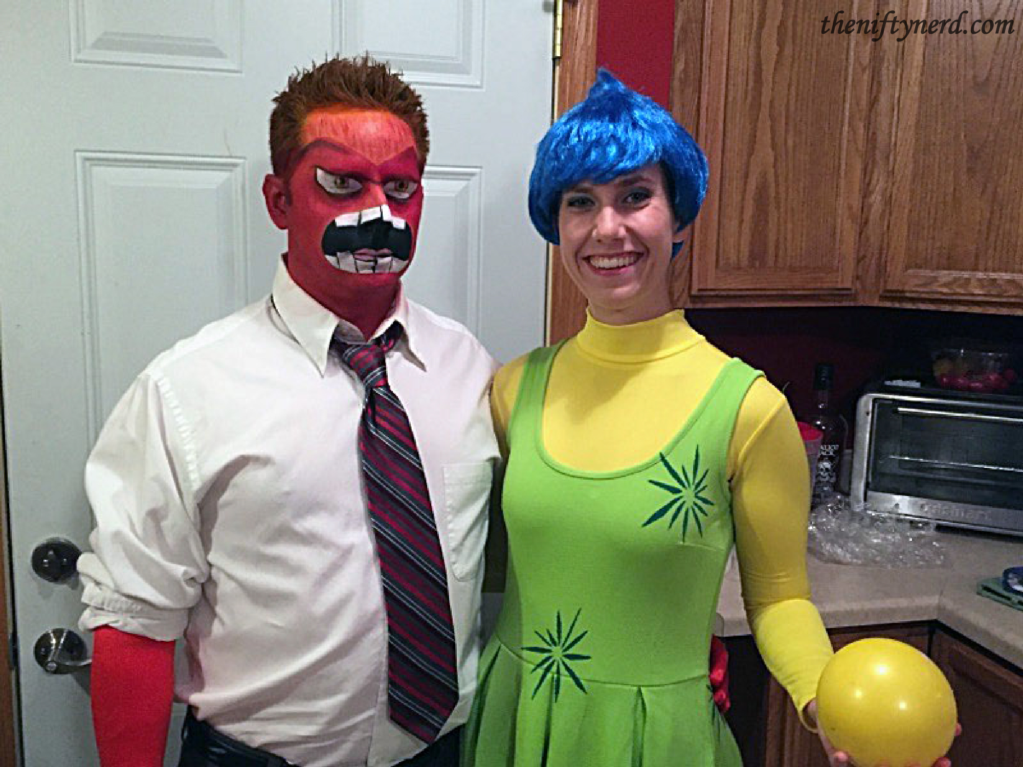 Anger and Joy Halloween costumes for Inside Out