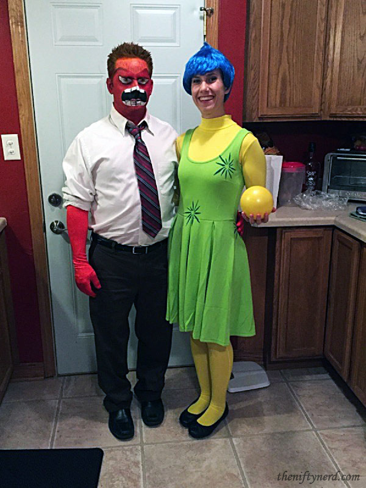 Inside Out Anger and Joy Costumes