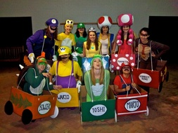 Mario Kart group costumes