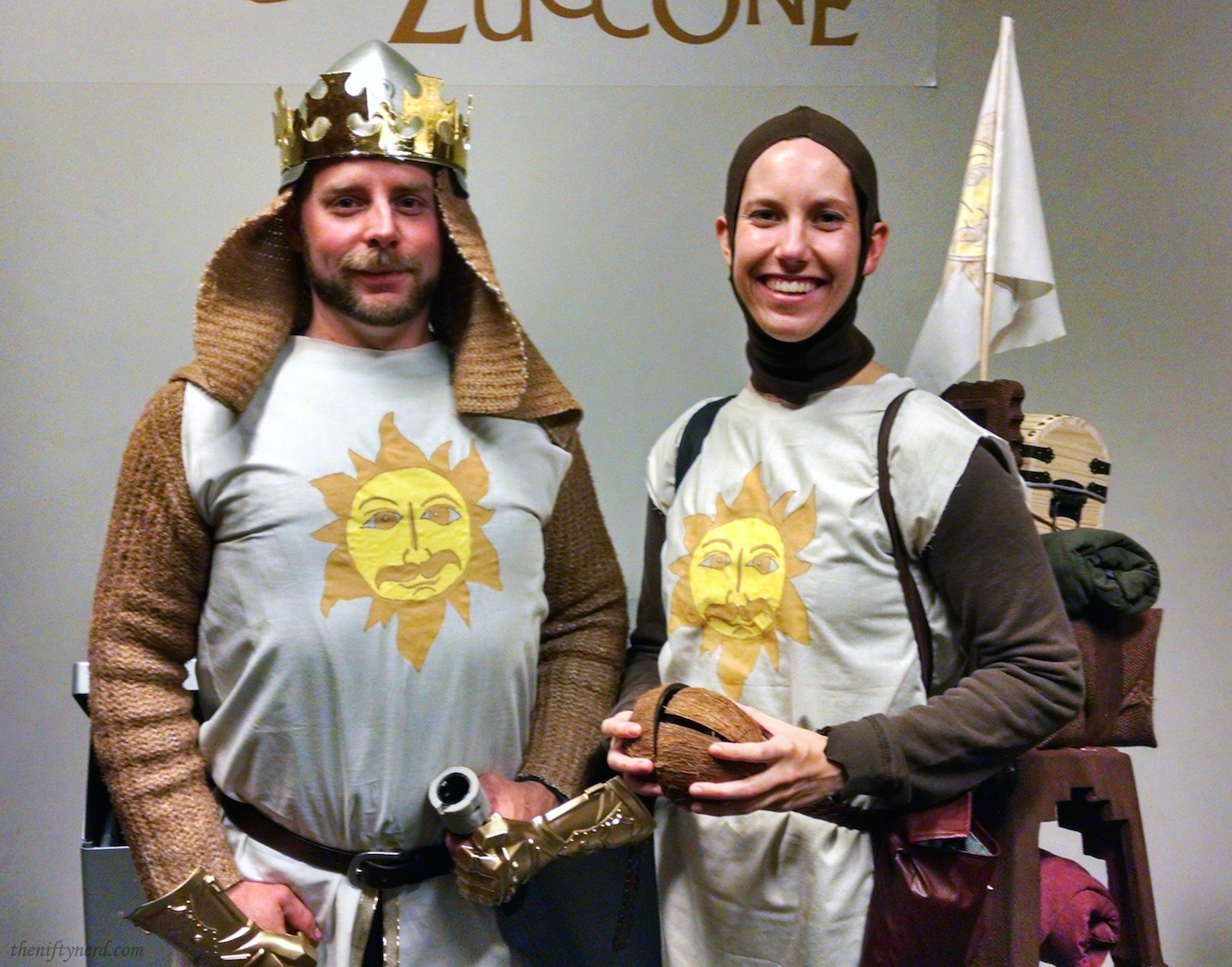Monty Python King Arthur and Pasty Halloween costumes