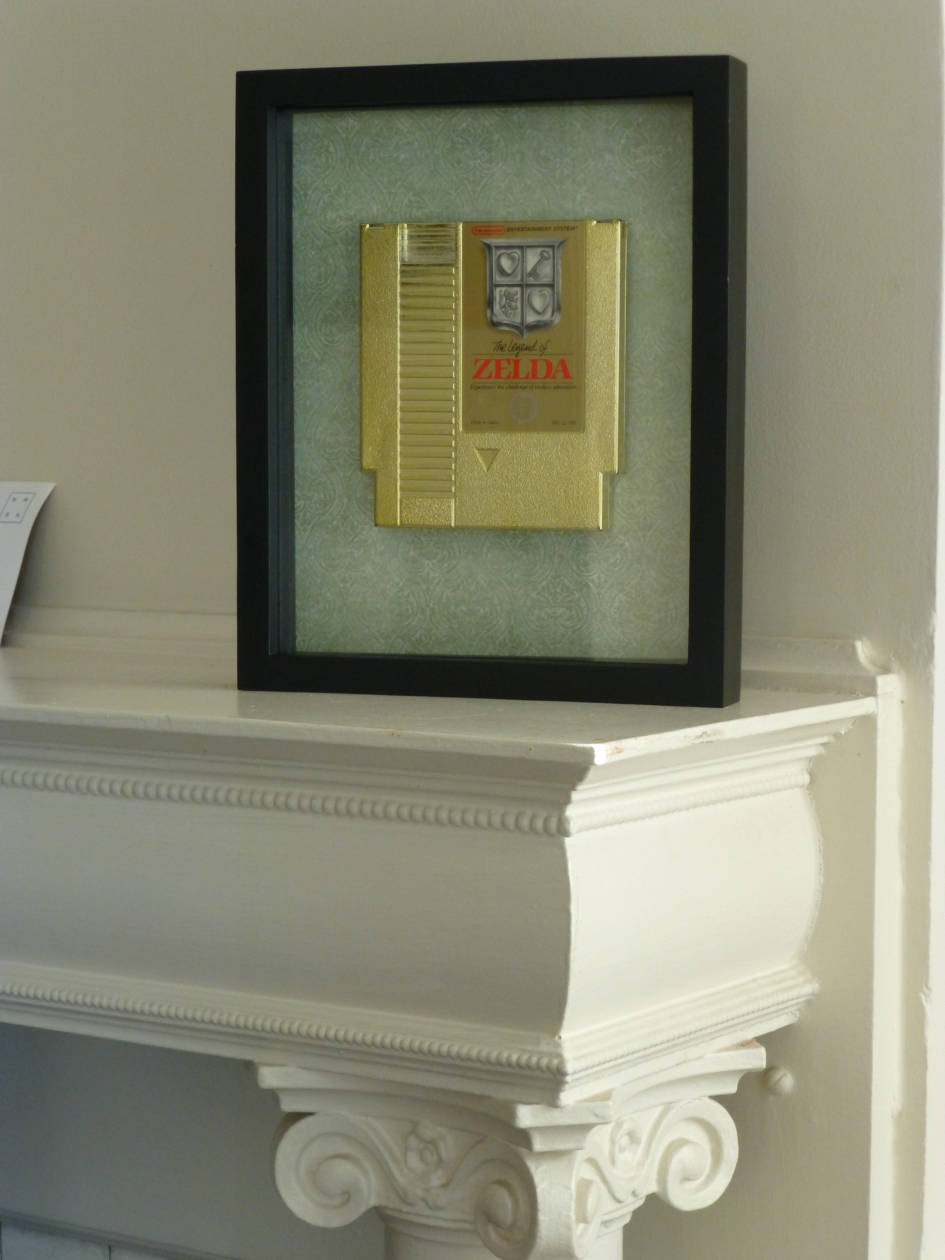 Legend of Zelda video game cartridge artwork