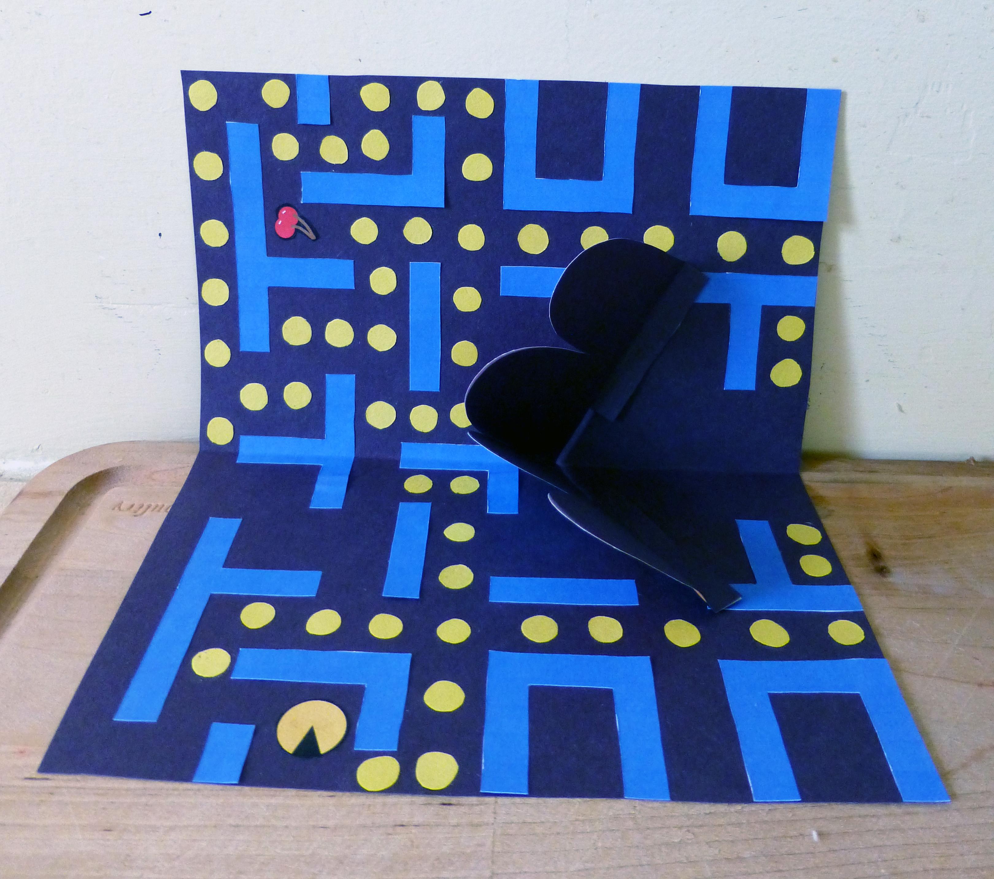 pacman popup card craft