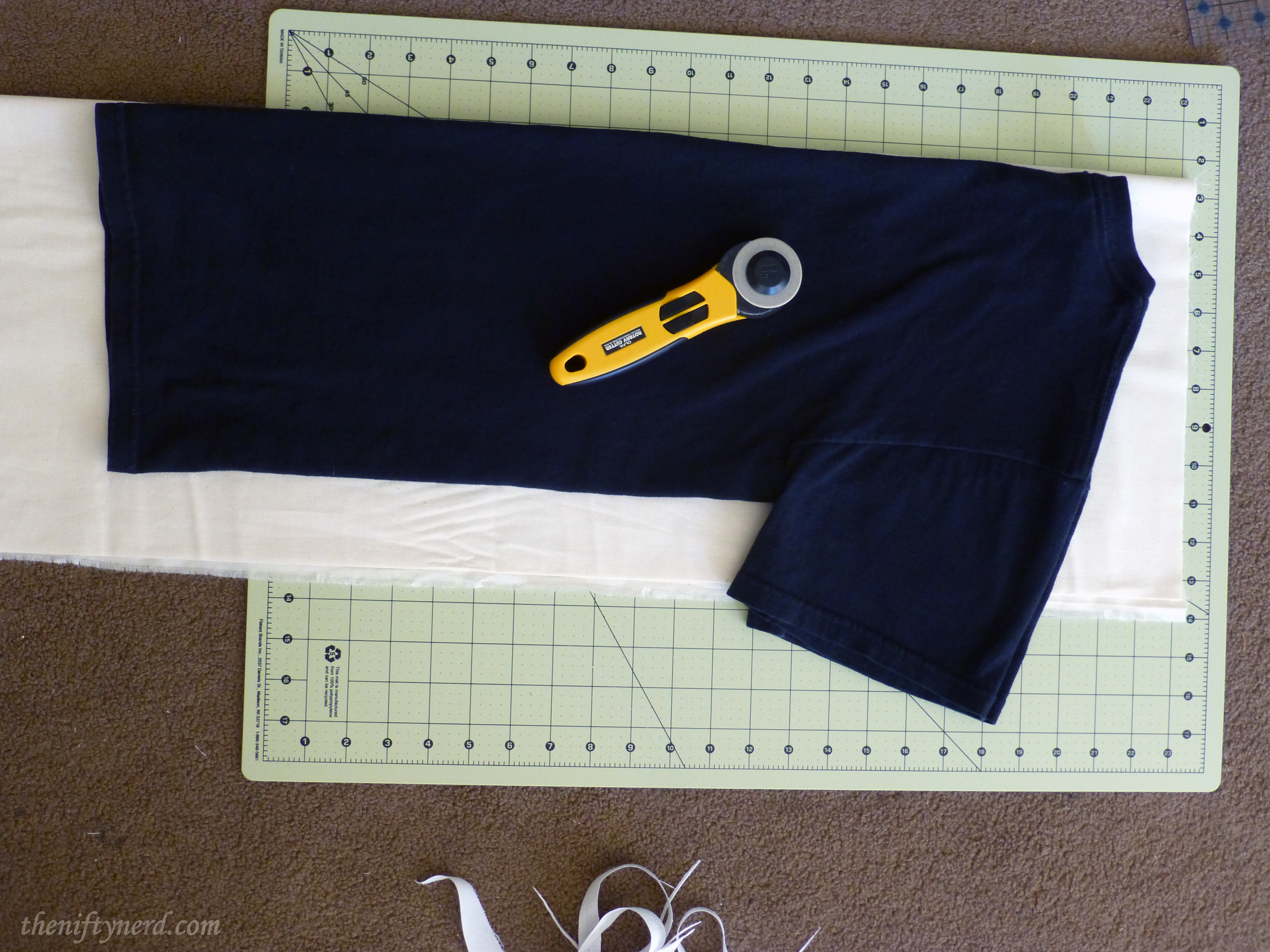 using a t-shirt as a fabric pattern