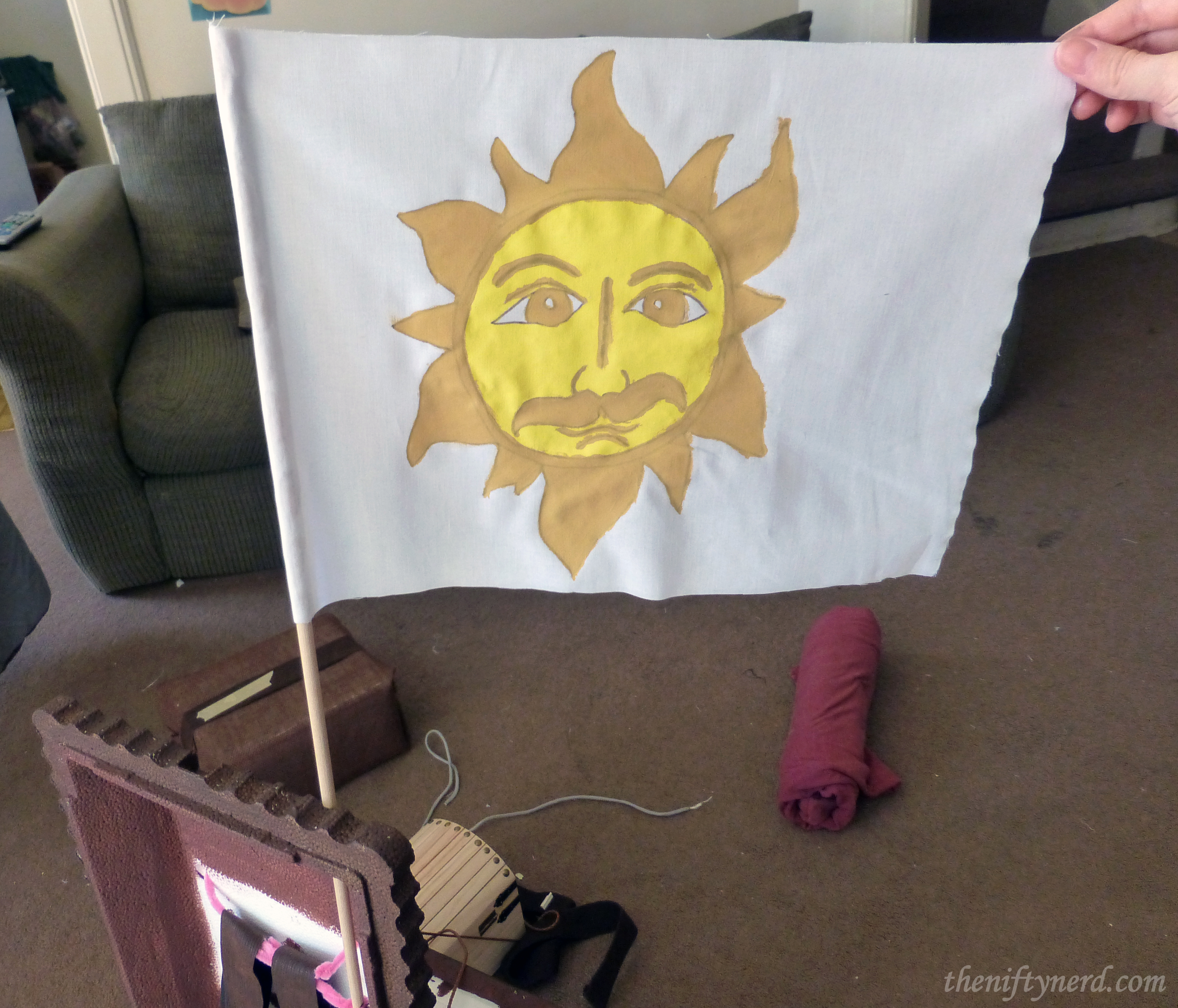 Sun emblem flag