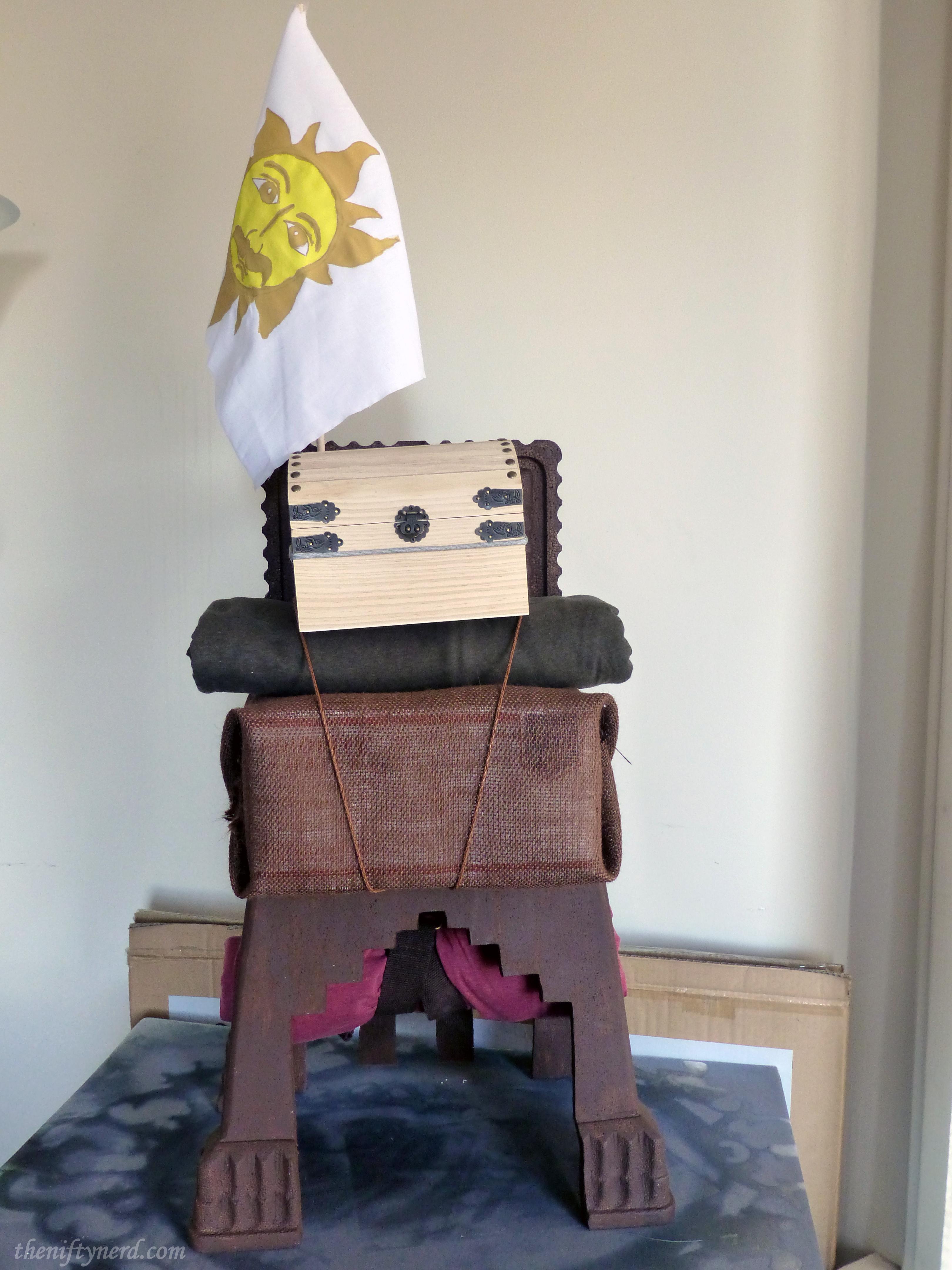 Monty Python Patsy's backpack