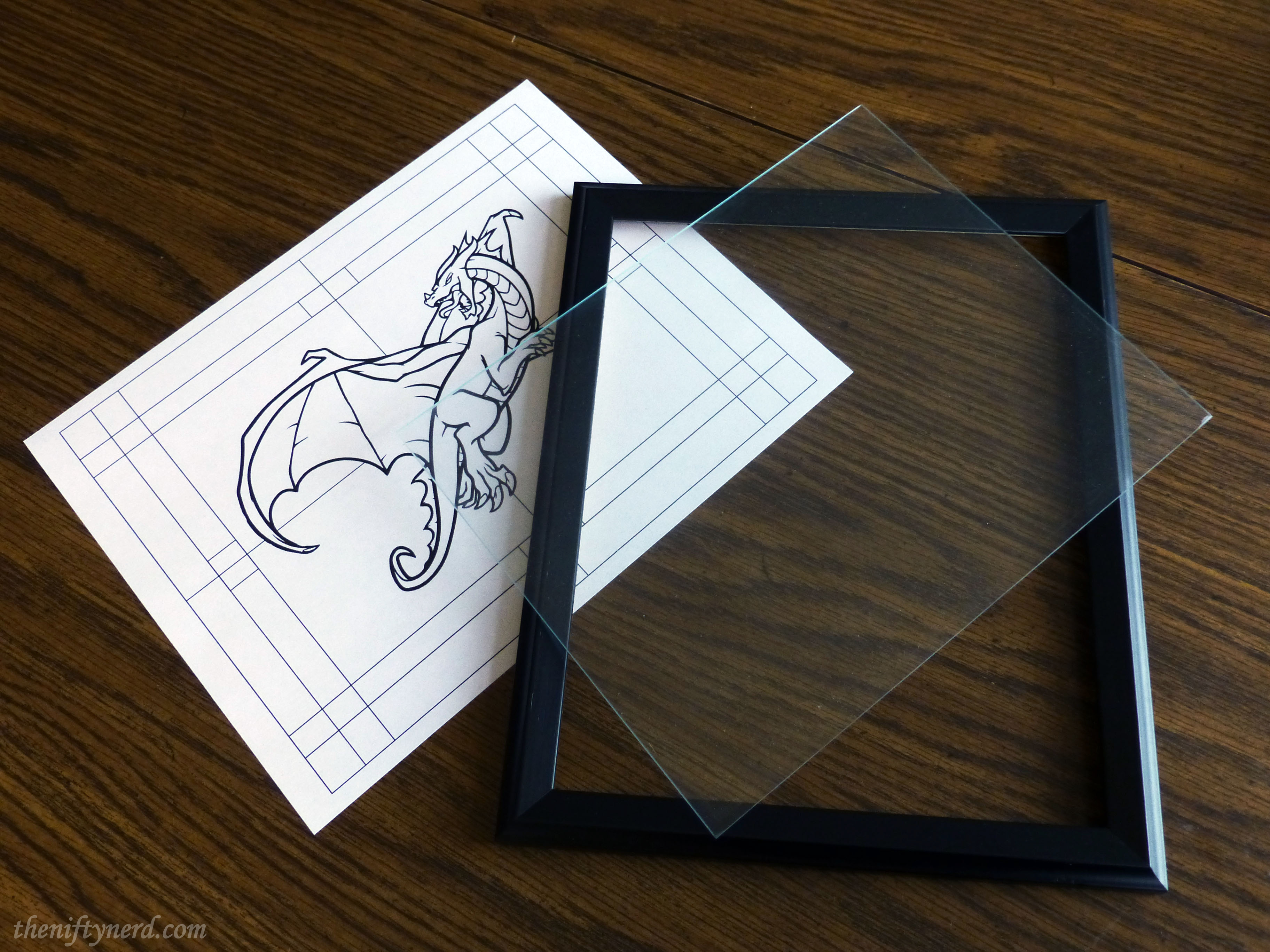 dragon template for stained glass