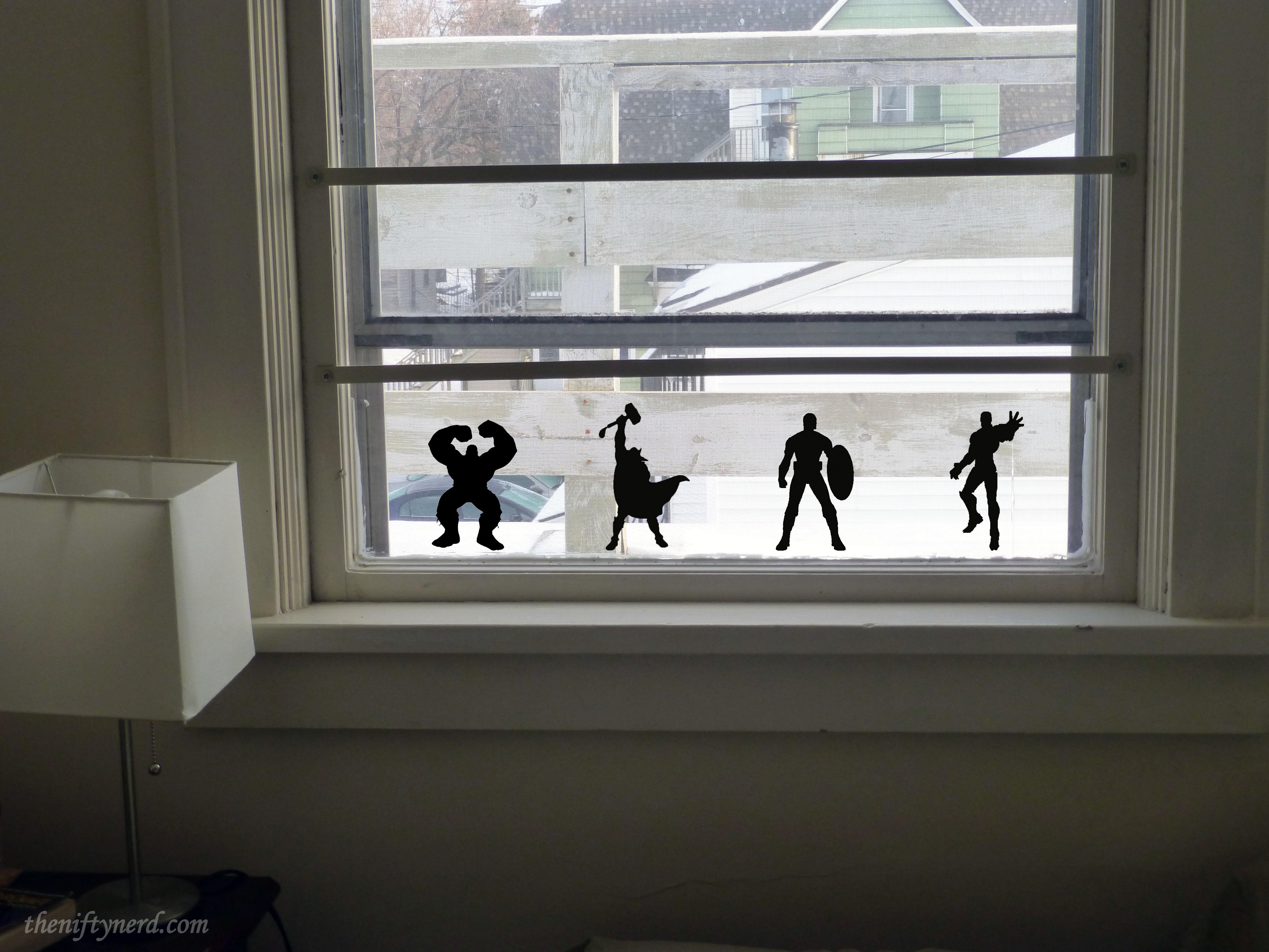 Avengers window art