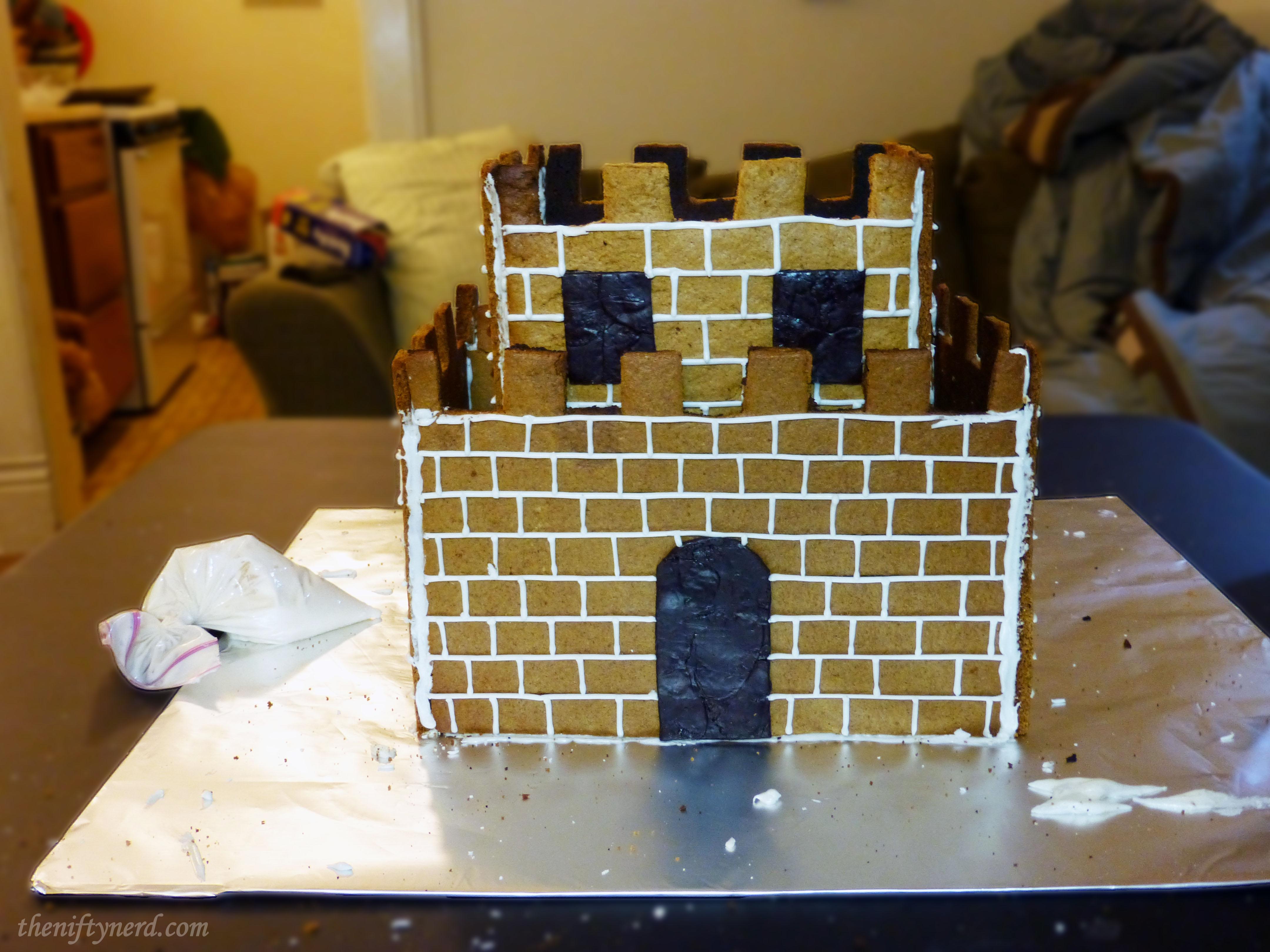 building a gingerbread mario castle