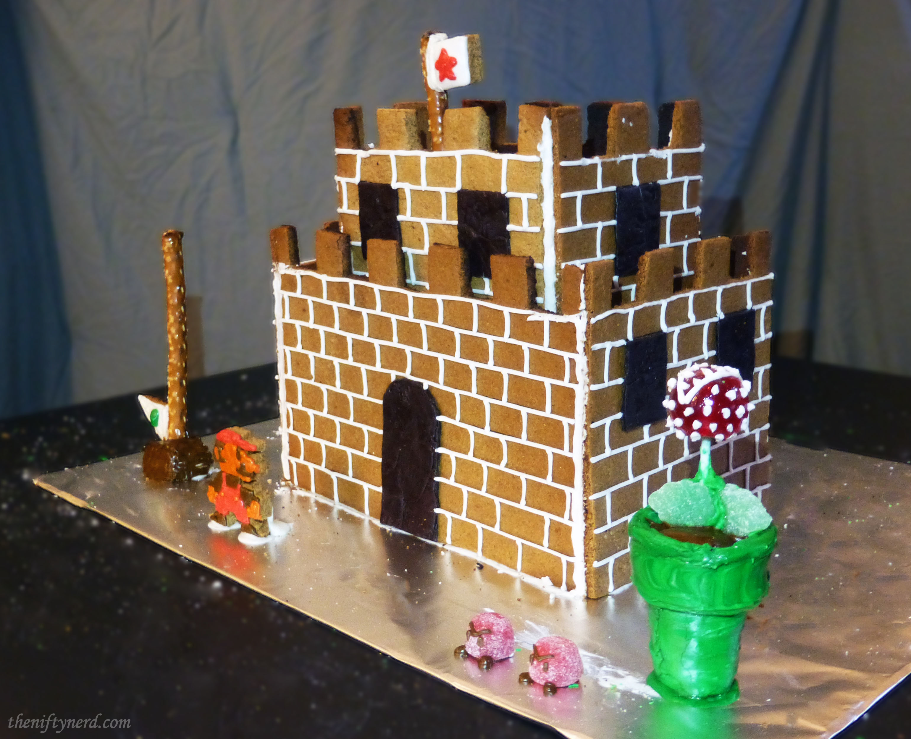 gingerbread super mario castle