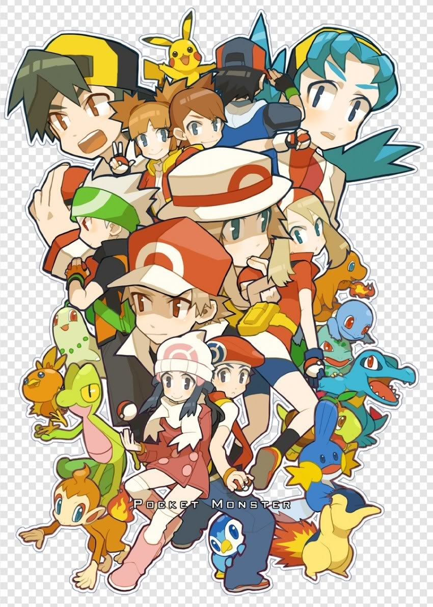 Pokemon and gym leaders and trainers
