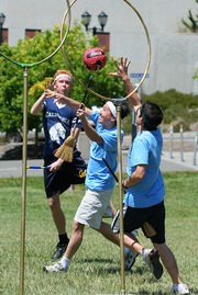 playing Quidditch