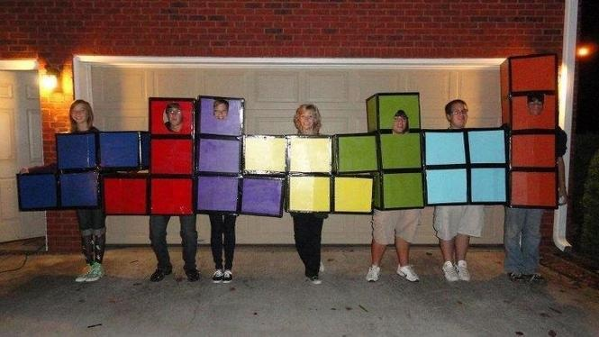 TETRIS group costume